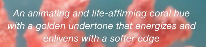 pantone living coral quote