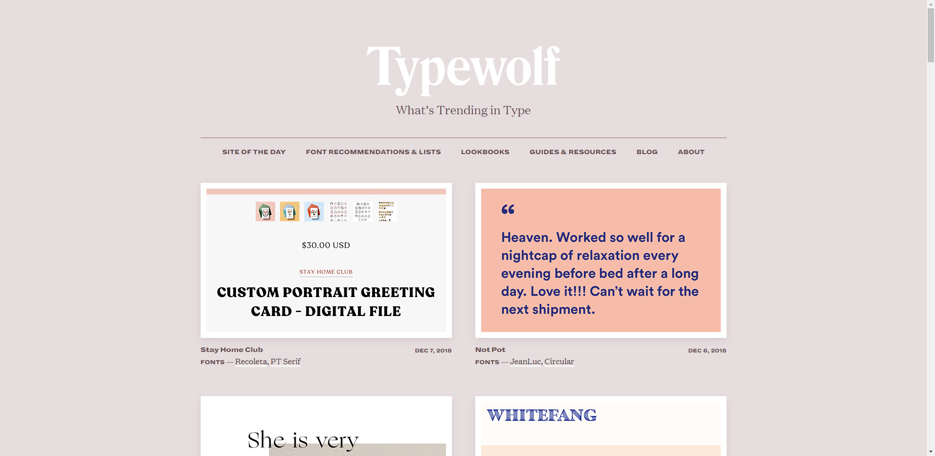 Typewolf website