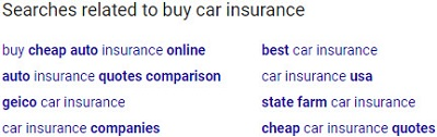 google related searches for buy car insurance