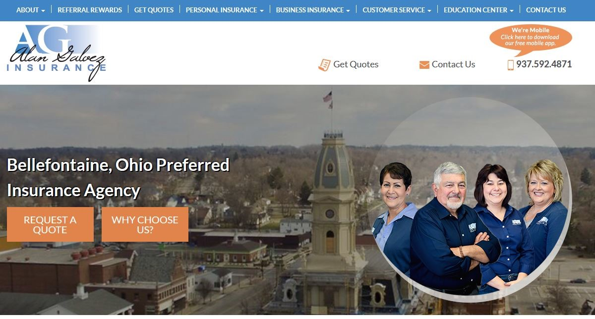 Alan Galvez Insurance website