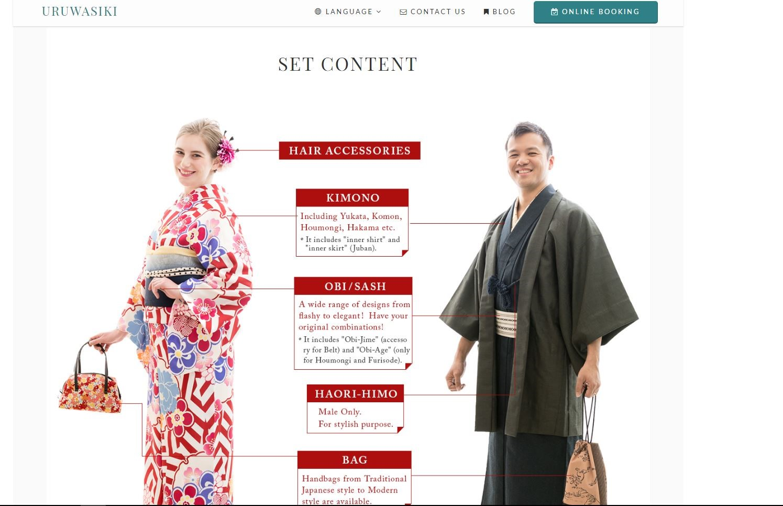 uruwasiki kimono rental website