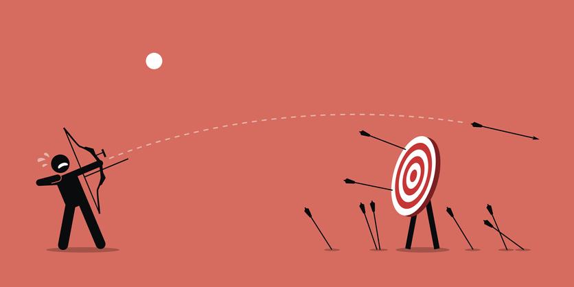 archery miss target