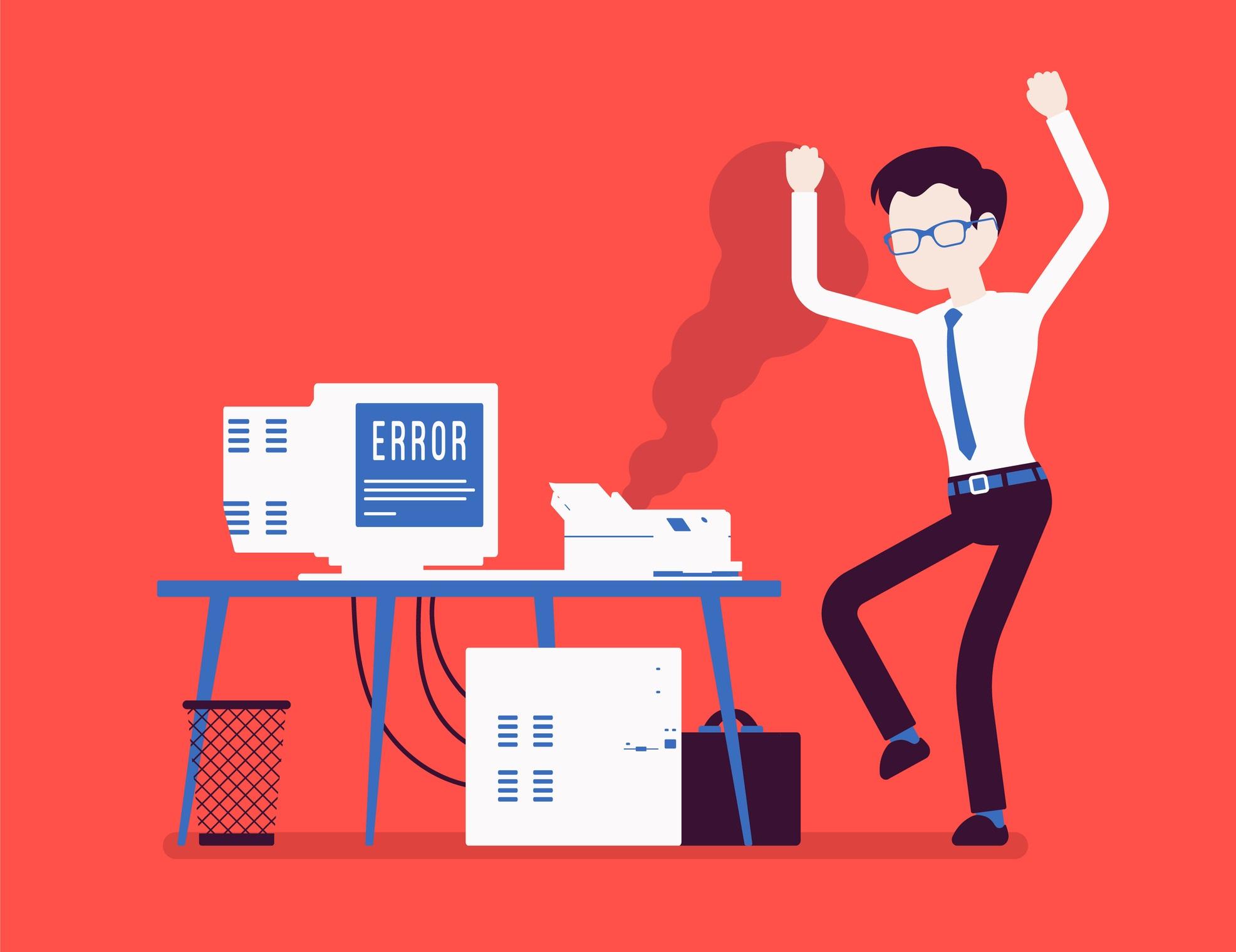 computer with error