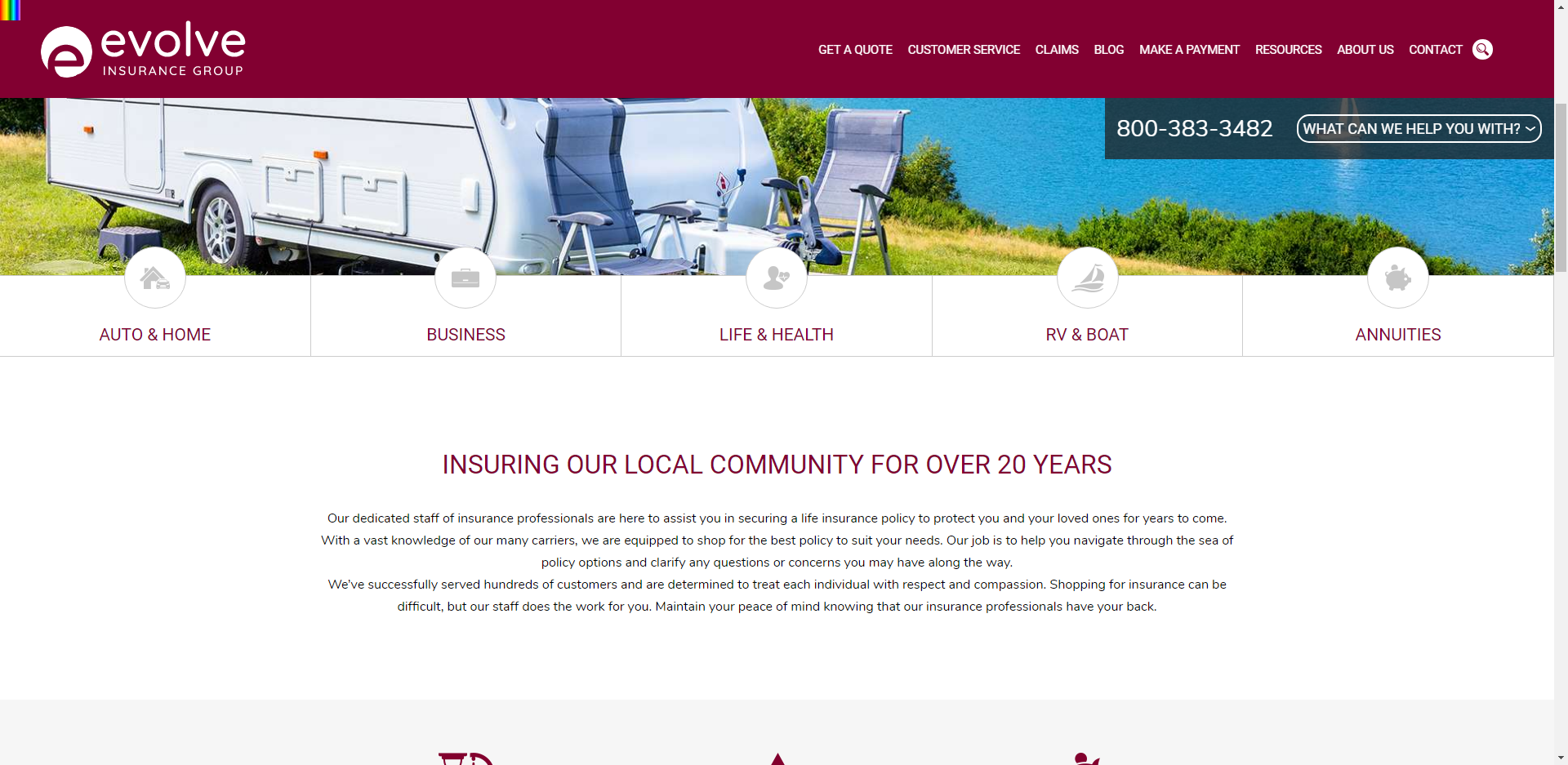 Evolve Insurance Website