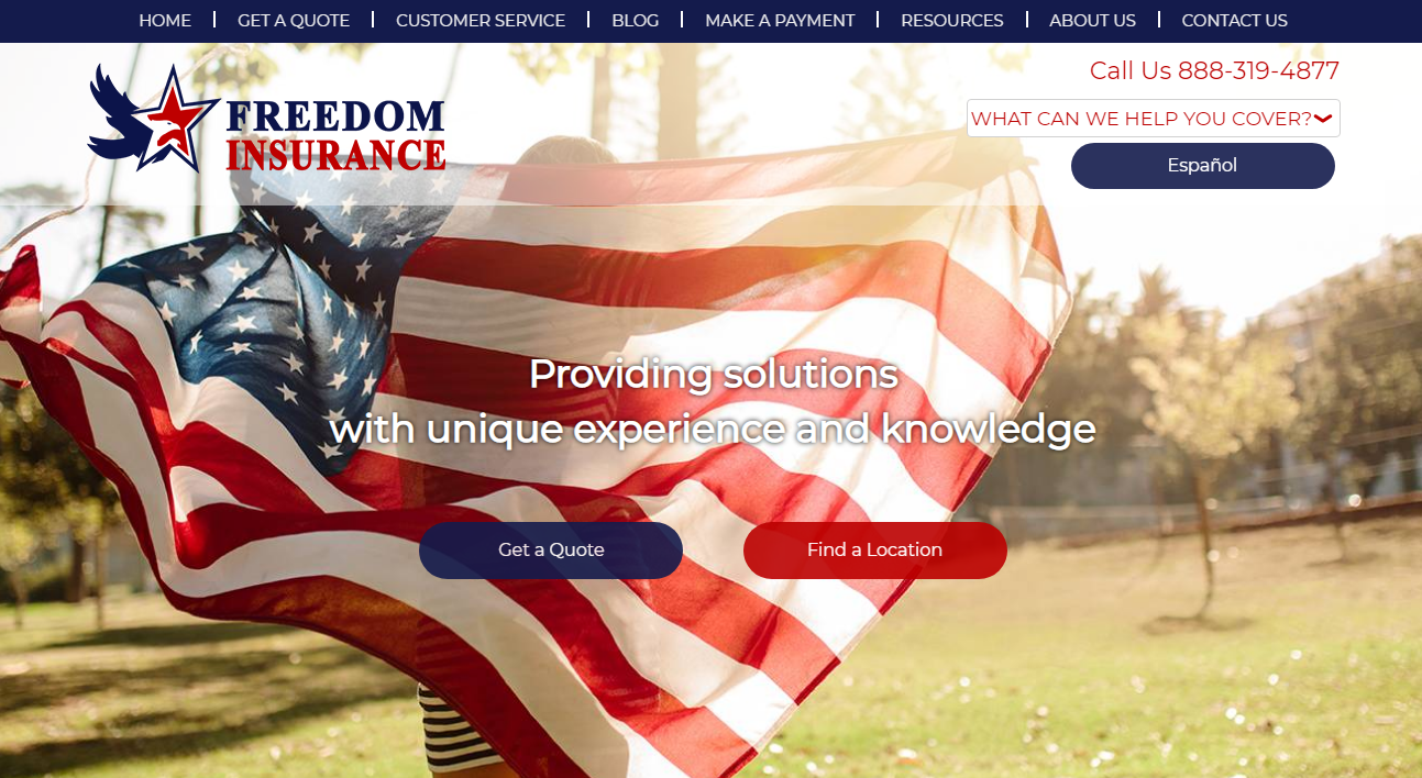 freedom insurance screenshot