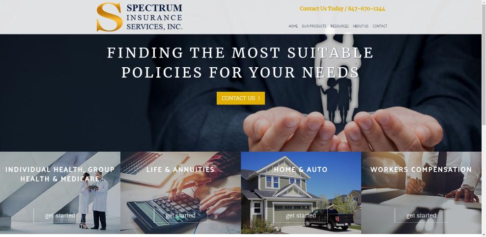 spectrum insurance screenshot
