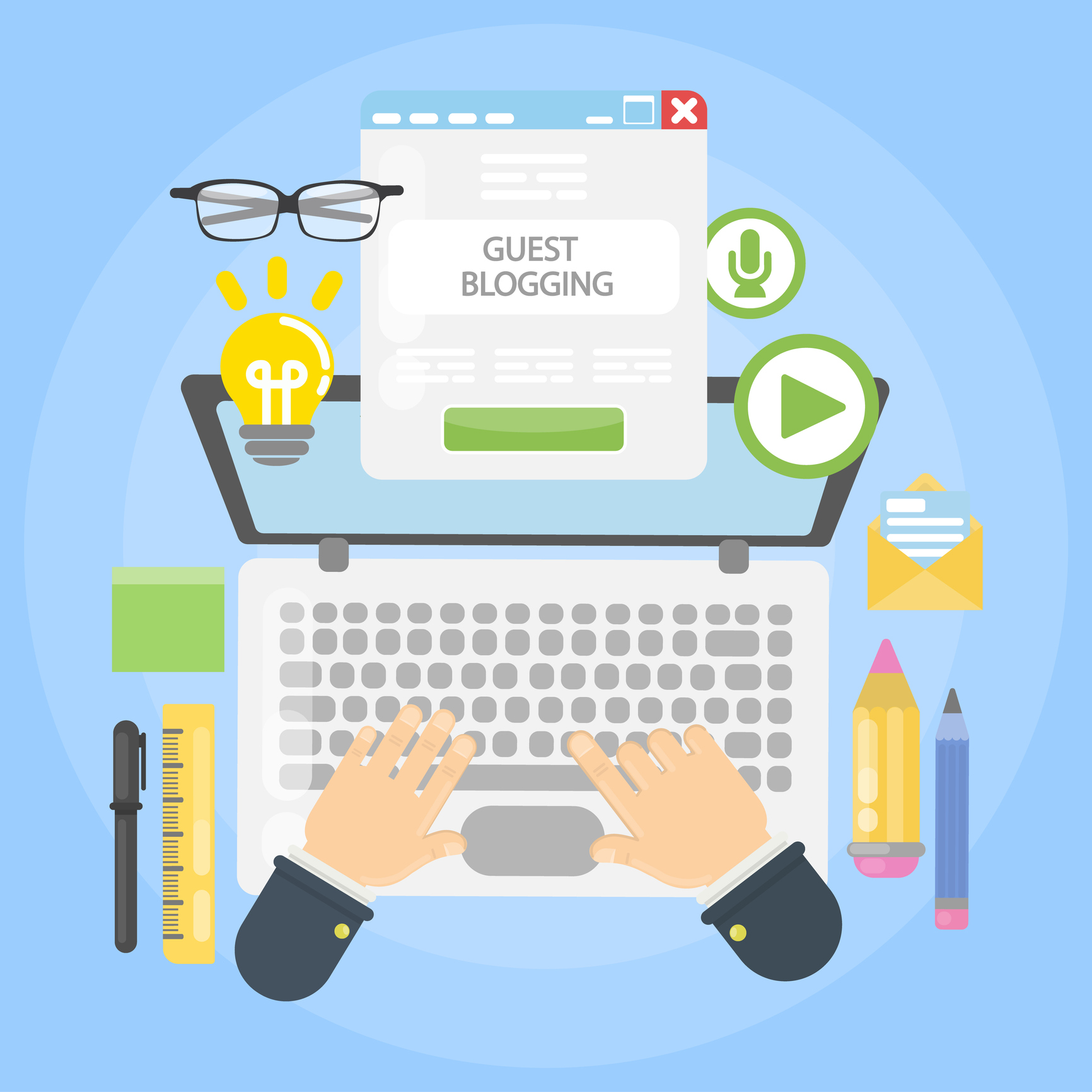 guest blogging graphic