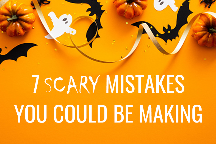 7 scary mistakes to avoid on your insurance website graphic header