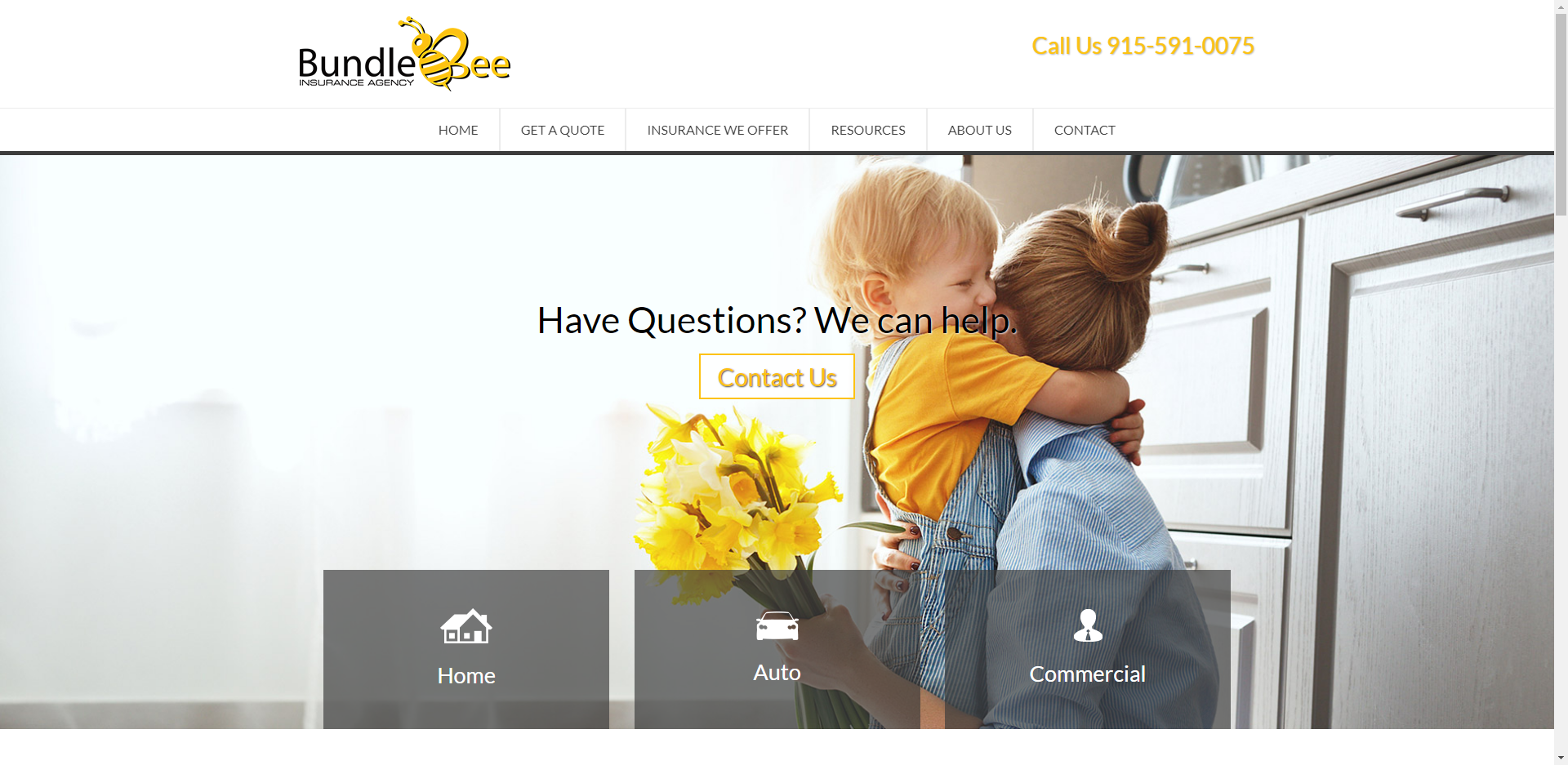 bundle bee insurance website