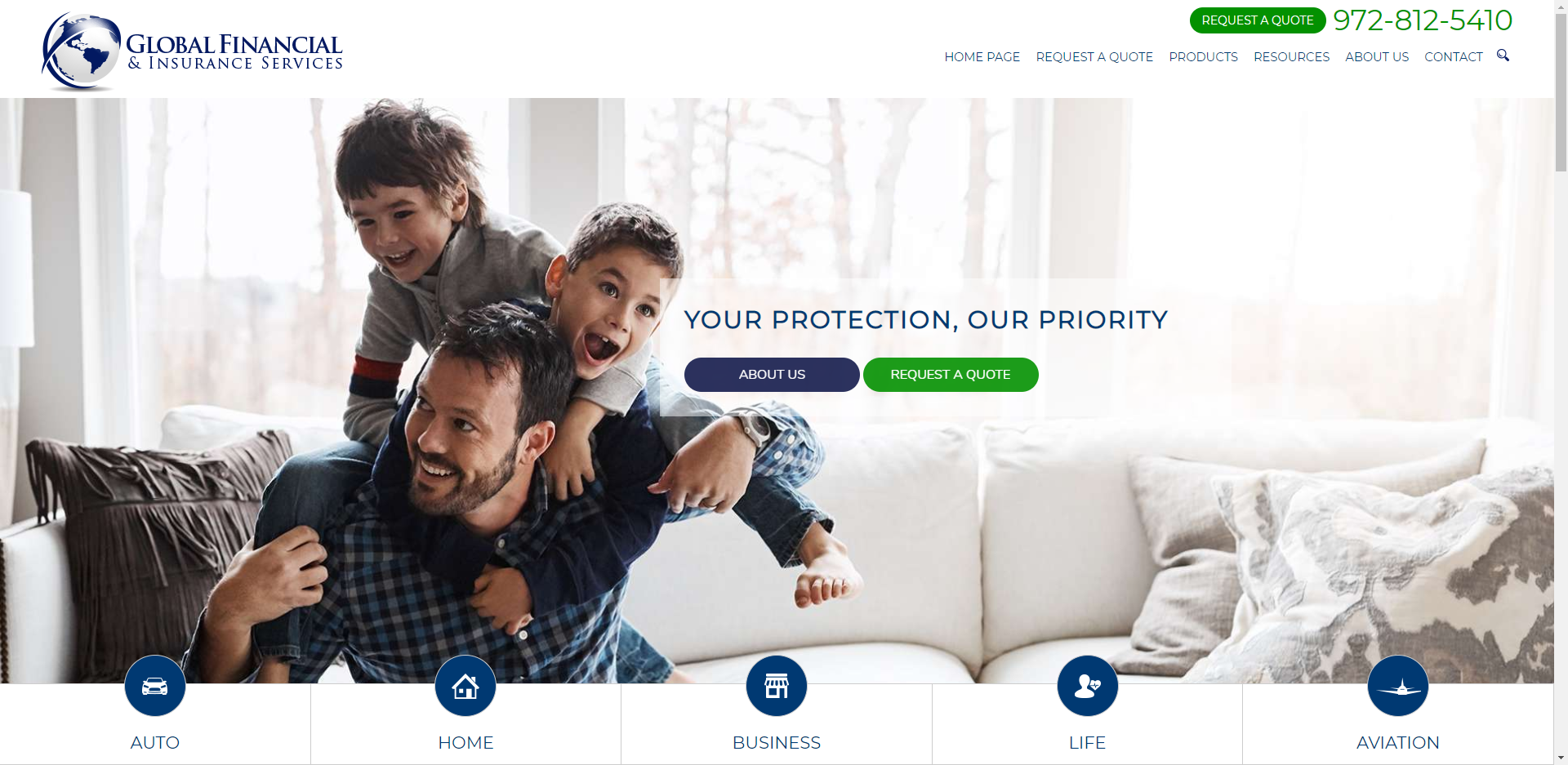 global financial insurance services website