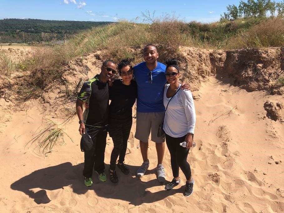 Whitnee Dillard hiking with friends