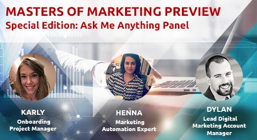 Masters of Marketing Ask Me Anything Panel header image
