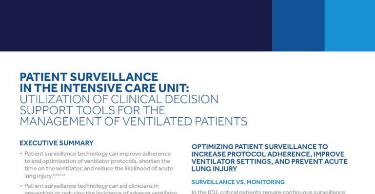 Patient Surveillance in the Intensive Care Unit