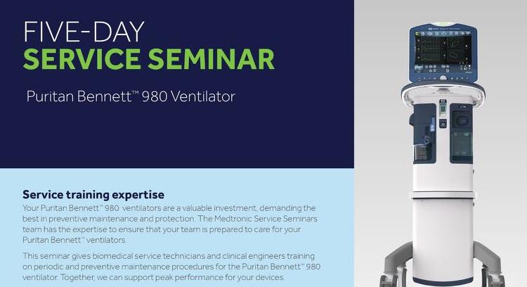 Info Sheet: 5-Day Service Seminar Puritan Bennett™ 980 Ventilator