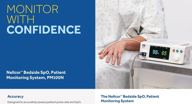 Product Specifications: Nellcor™ Bedside SpO2 Patient Monitoring System, PM100N [Learn More]