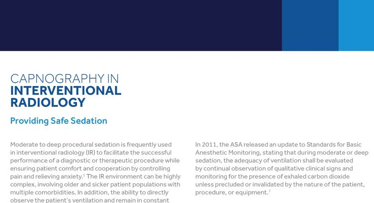 Capnography in Interventional Radiology White Paper