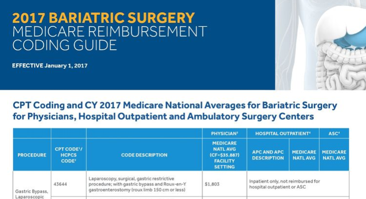 2017 Medicare Reimbursement and Coding Guide for Bariatric Surgery