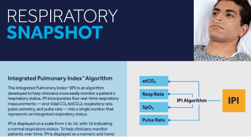 Integrated Pulmonary Index™ Algorithm Info Sheet