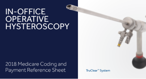 2018 Medicare Coding for In-office Operative Hysteroscopy