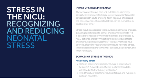 Stress in the NICU: Recognizing and Reducing Neonatal Stress
