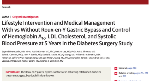 The Roux-en-Y Gastric Bypass as Treatment for Diabetes