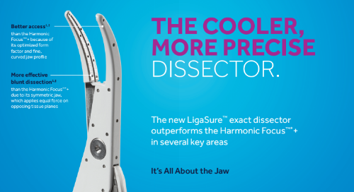 Infographic: LigaSure™ Exact Dissector with Nonstick Nano-Coating vs. Harmonic Focus
