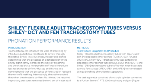 Shiley™ Flexible Adult Tracheostomy Tubes Phonation Results