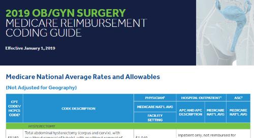 Coding Guide: OB/GYN Surgery Medicare Reimbursement