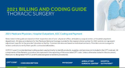 Thoracic Surgery Medicare Reimbursement Coding Guide
