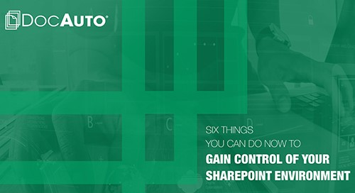 eBook: Six Things You Can Do to Control SharePoint