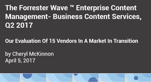 Forrester Wave Report on ECM Vendors