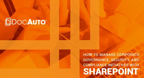 eBook: How to Manage Corporate Governance, Security, and Compliance with SharePoint