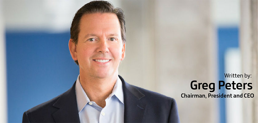 Picture of article author, chairman, president and CEO Greg Peters.