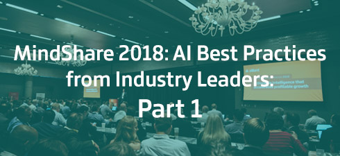 People in conference room for Mindshare 2018: Part 1 on AI software best practices.