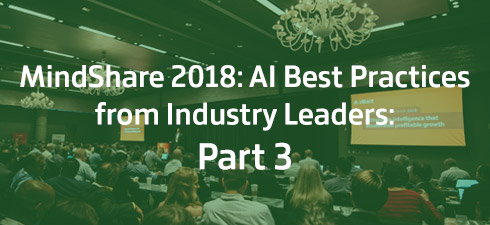 People in conference room for Mindshare 2018: Part 3 on AI software best practices