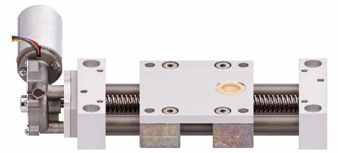 linear actuator with motor screw-driven