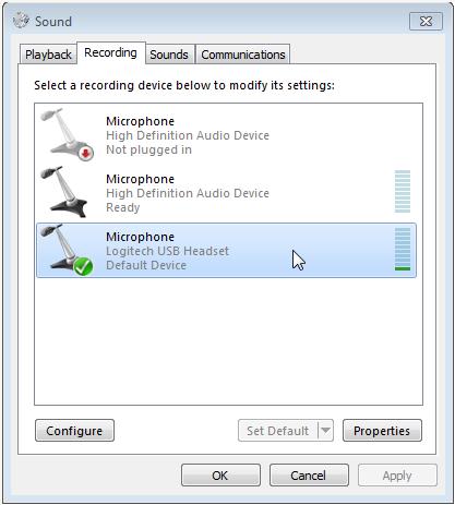 set default button