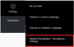 Speech Recognition-Microphone Settings