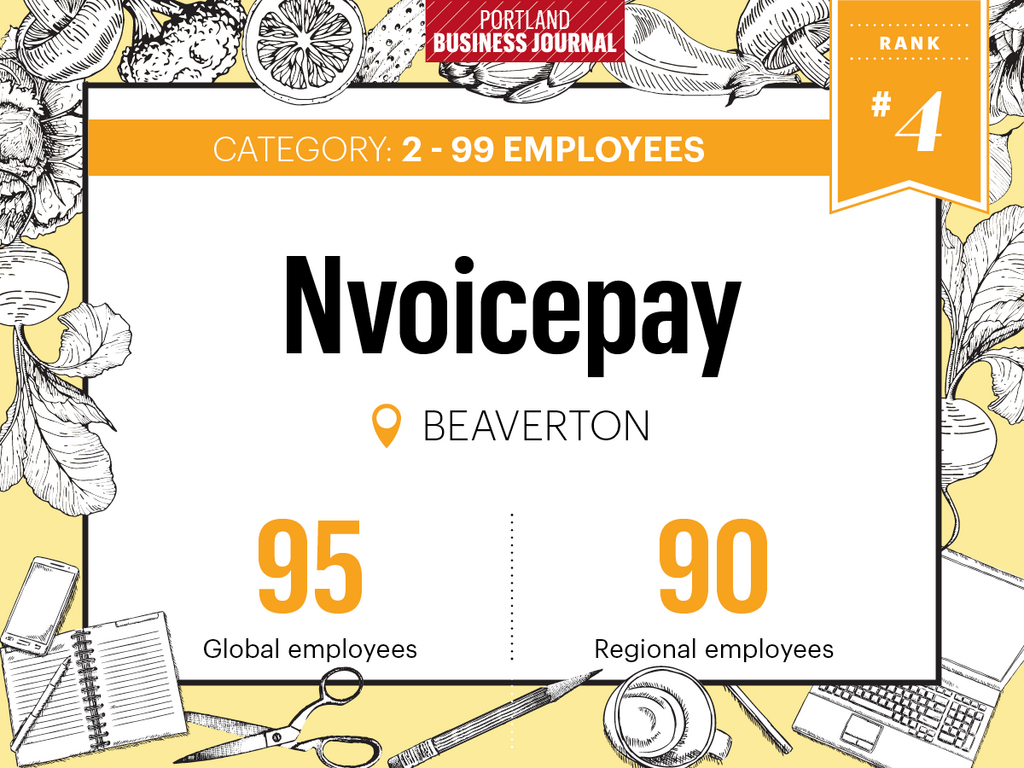 Portland Business Journal named Nvoicepay one of the healthiest employers in Oregon 2017