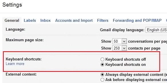 gmailkeyboardshortcut