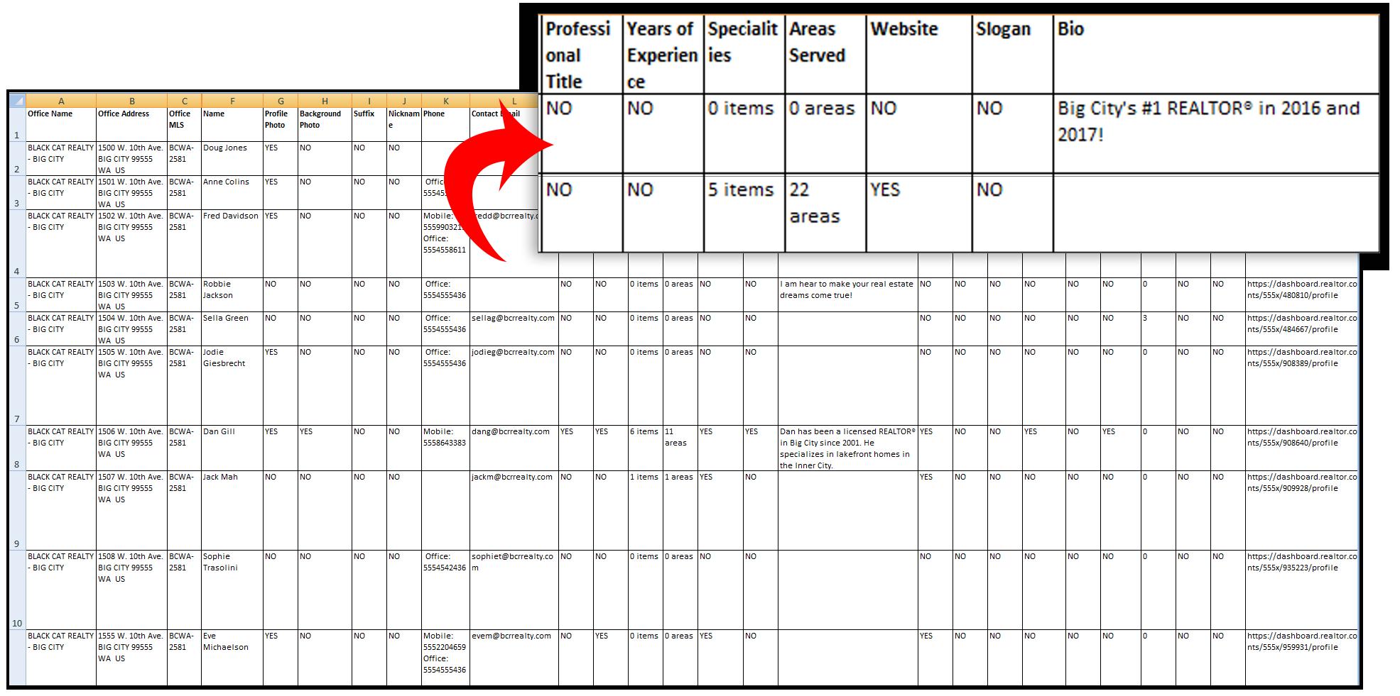 realtor.com agent profile report