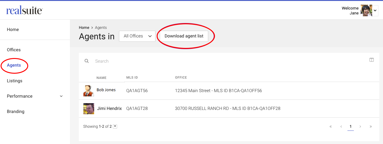 How to download realtor.com agent profile report