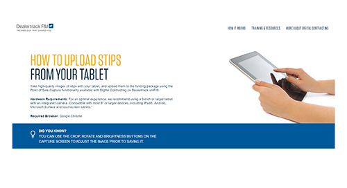 Step by Step Page: Uploading Stips from Tablet
