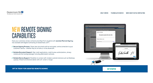 Step by Step Page: assisted Remote Signing