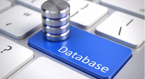 Taste mit Aufschrift Database