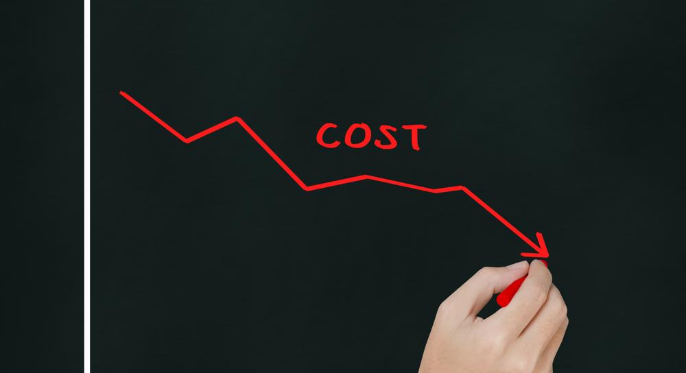 Diagramm zur Kostensenkung
