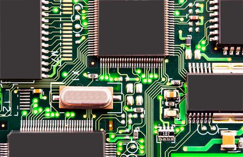 Schaltungen auf einem Computer-Motherboard