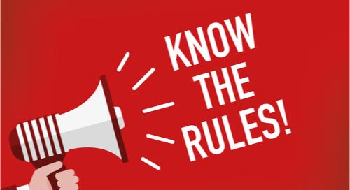 Lautstarke Erinnerung daran, dass Sie die Regeln kennen sollten