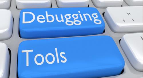 """Tastatur mit """"Debugging"""" und """"Tools"""" auf Tasten geschrieben"""