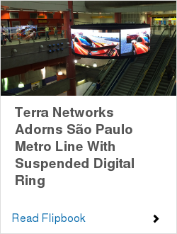 Terra Networks Adorns São Paulo Metro Line With Suspended Digital Ring